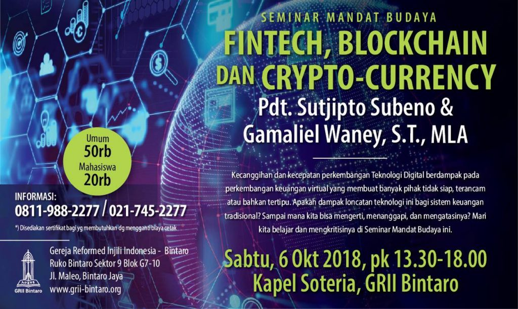 seminar crypto currency fintech blockchain sertifikat