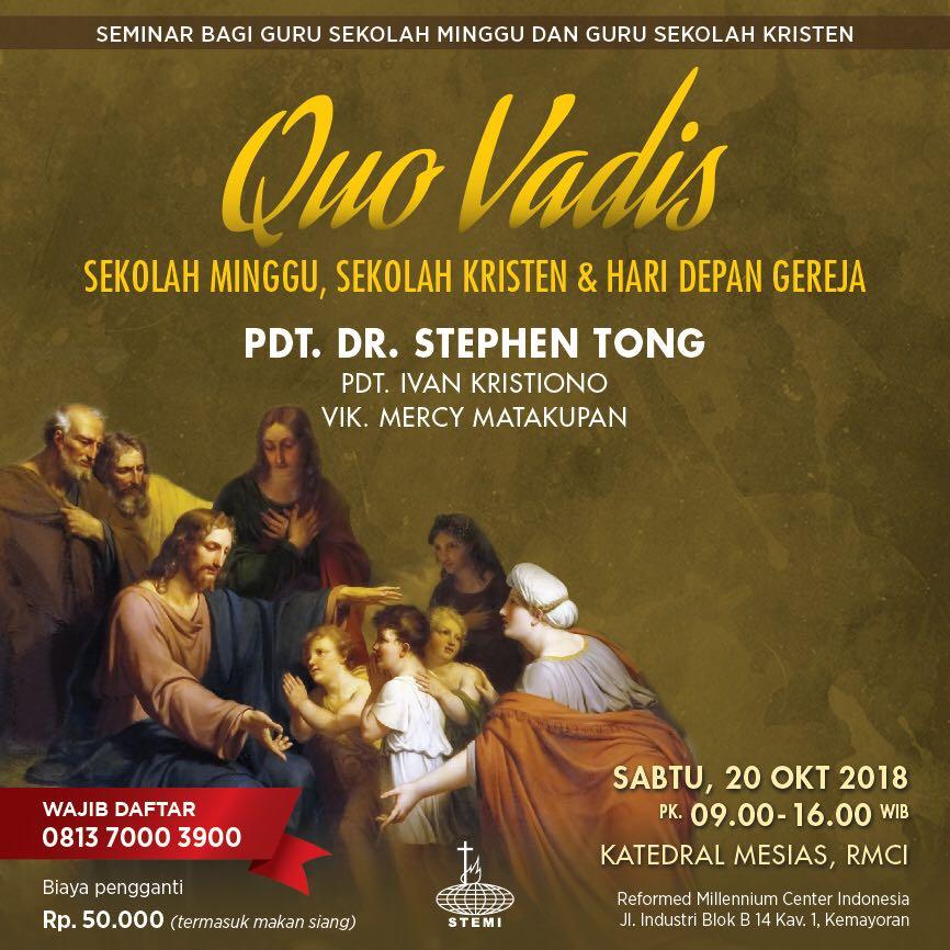 Seminar Quo Vadis Guru Sekolah Kristen Sekolah Minggi Sertifikat